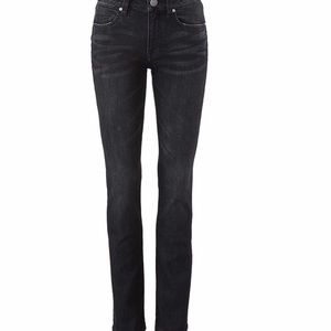 Cabi Smolder High Straight Skinny Black Jeans